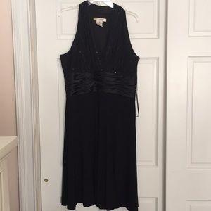 Evan Picone black sparkle cocktail dress
